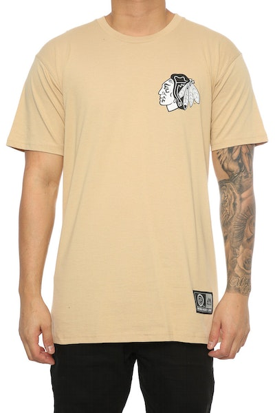 Majestic Athletic Blackhawks Jeaner Tee Khaki