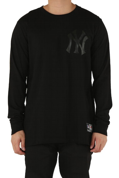 Majestic Athletic New York Yankees Levare L/S Tee Black/Black