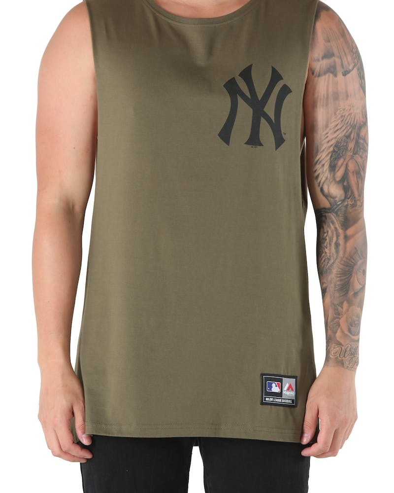 Majestic Athletic Yankees Yisser Muscle Tee Olive/Black