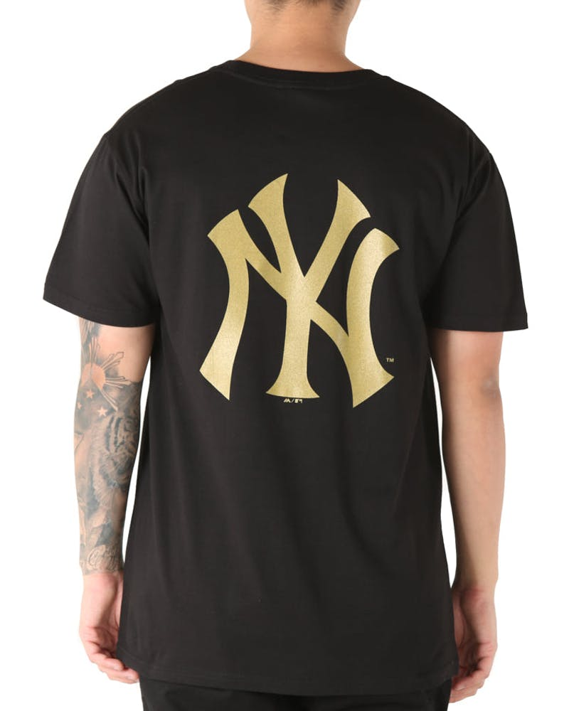 Majestic Athletic New York Yankees Foiler Tee Black/Gold