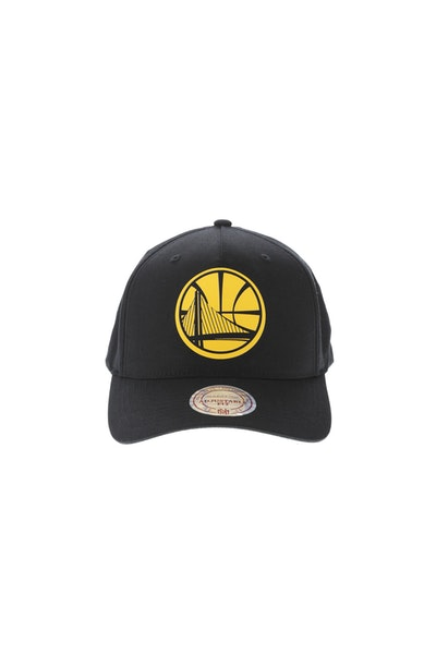 Mitchell & Ness Golden State Warriors Silicone Logo 110 Snapback Black/Yellow