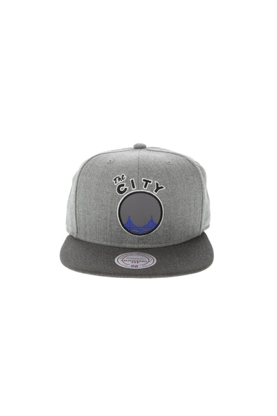 Mitchell & Ness Golden State Warriors Heather Reflective Snapback Heather Grey