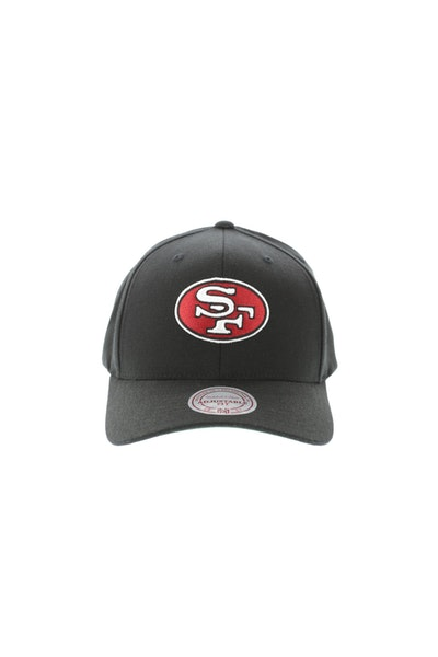 Mitchell & Ness San Francisco 49ers Flex 110 Embroidered Logo Snapback Black/Red/Green