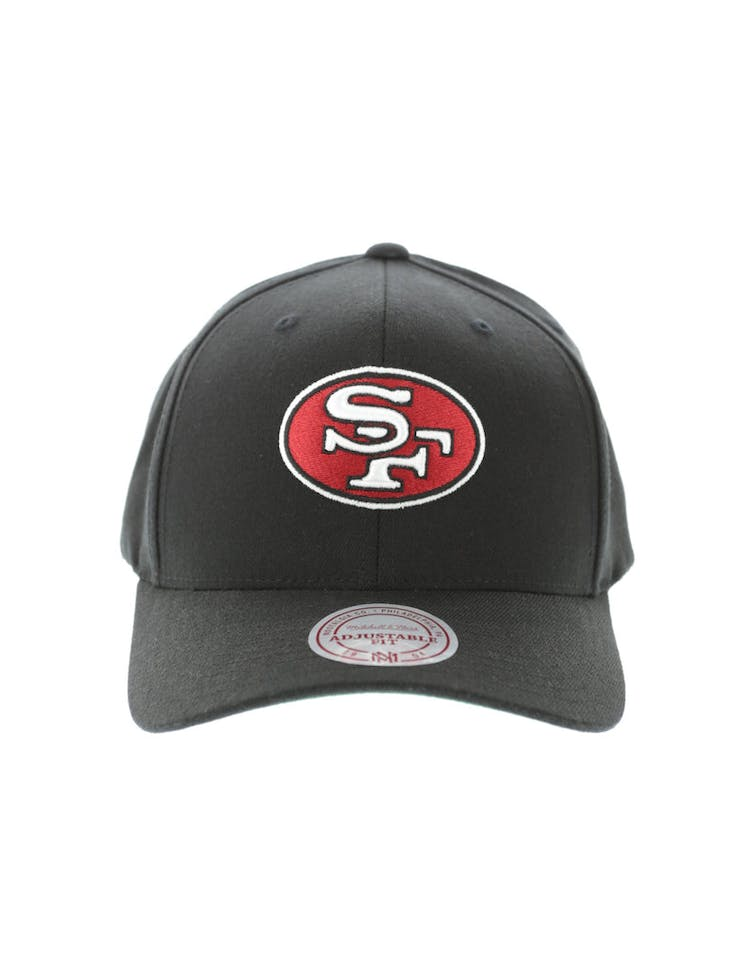 newest 5a216 62f45 Mitchell & Ness San Francisco 49ers Flex 110 Embroidered Logo Snapback  Black/Red/Green