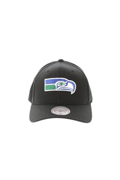 Mitchell & Ness Seattle Seahawks Flex 110 Embroidered Logo Snapback Black/Blue/Green