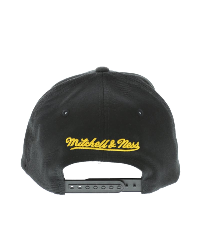 Mitchell & Ness Green Bay Packers Flex 110 Embroidered Logo Snapback Black/Yellow/Green