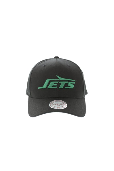 Mitchell & Ness New York Jets Flex 110 Embroidered Logo Snapback Black/Green