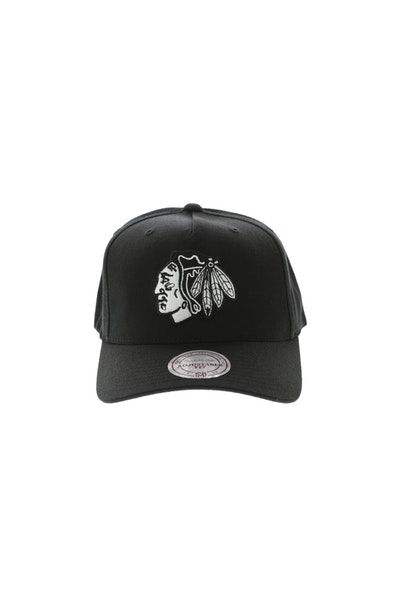 Mitchell & Ness Chicago Blackhawks 110 Pinch Snapback Black/White
