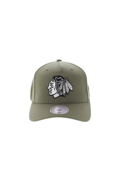 Mitchell & Ness Chicago Blackhawks 110 Pinch Snapback Olive