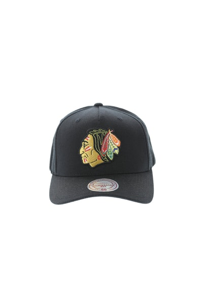 Mitchell & Ness Chicago Blackhawks Team 110 Pinch Snapbacks Black