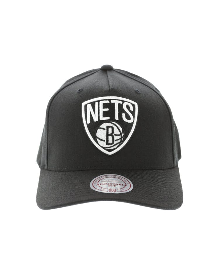 8dd40a87d6379 Mitchell   Ness Brooklyn Nets Pinch 110 Snapback Black White – Culture Kings