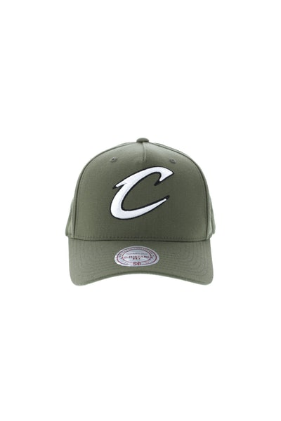 Mitchell & Ness Cleveland Cavaliers 110 Pinch Snapback Olive
