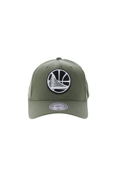 Mitchell & Ness Golden State Warriors 110 Pinch Snapback Olive