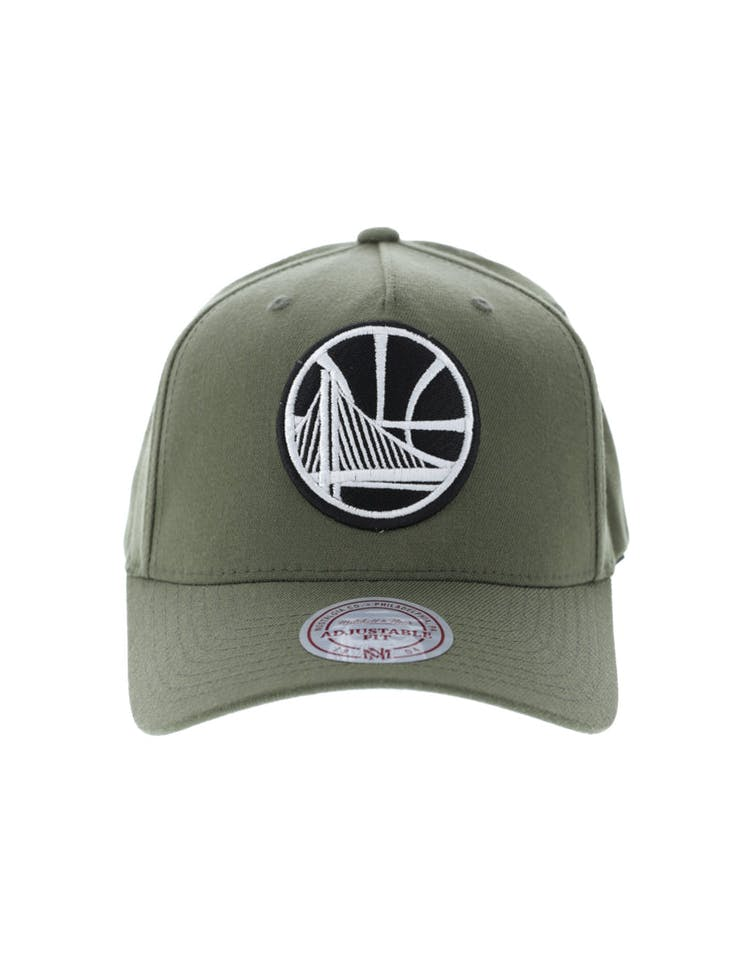 separation shoes 9abd8 f871d Mitchell   Ness Golden State Warriors 110 Pinch Snapback Olive – Culture  Kings