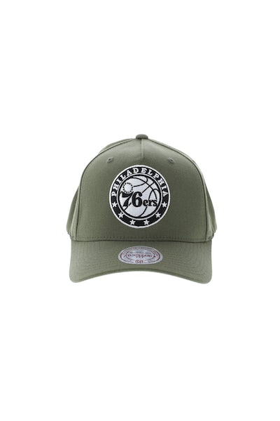 Mitchell & Ness Philadelphia 76ers 110 Pinch Snapback Olive