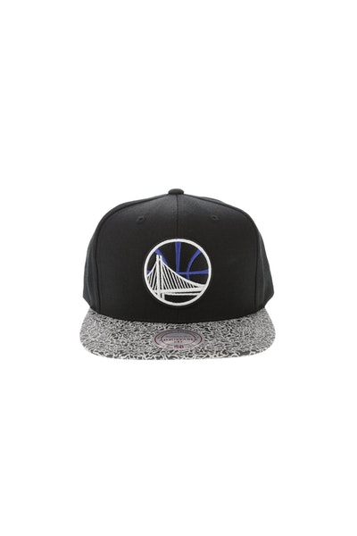 Mitchell & Ness Golden State Warriors Elephant Snapback Black