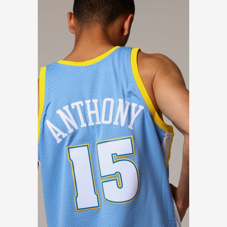 Mitchell   Ness Denver Nuggets Carmelo Anthony  15 NBA Jersey Sky Blue –  Culture Kings 9087984d28