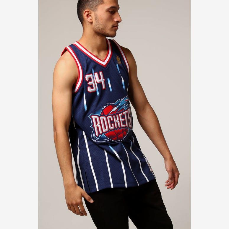 Mitchell   Ness Houston Rockets Hakeem Olajuwon  34 NBA Jersey Navy –  Culture Kings 5dcfa4306e2d