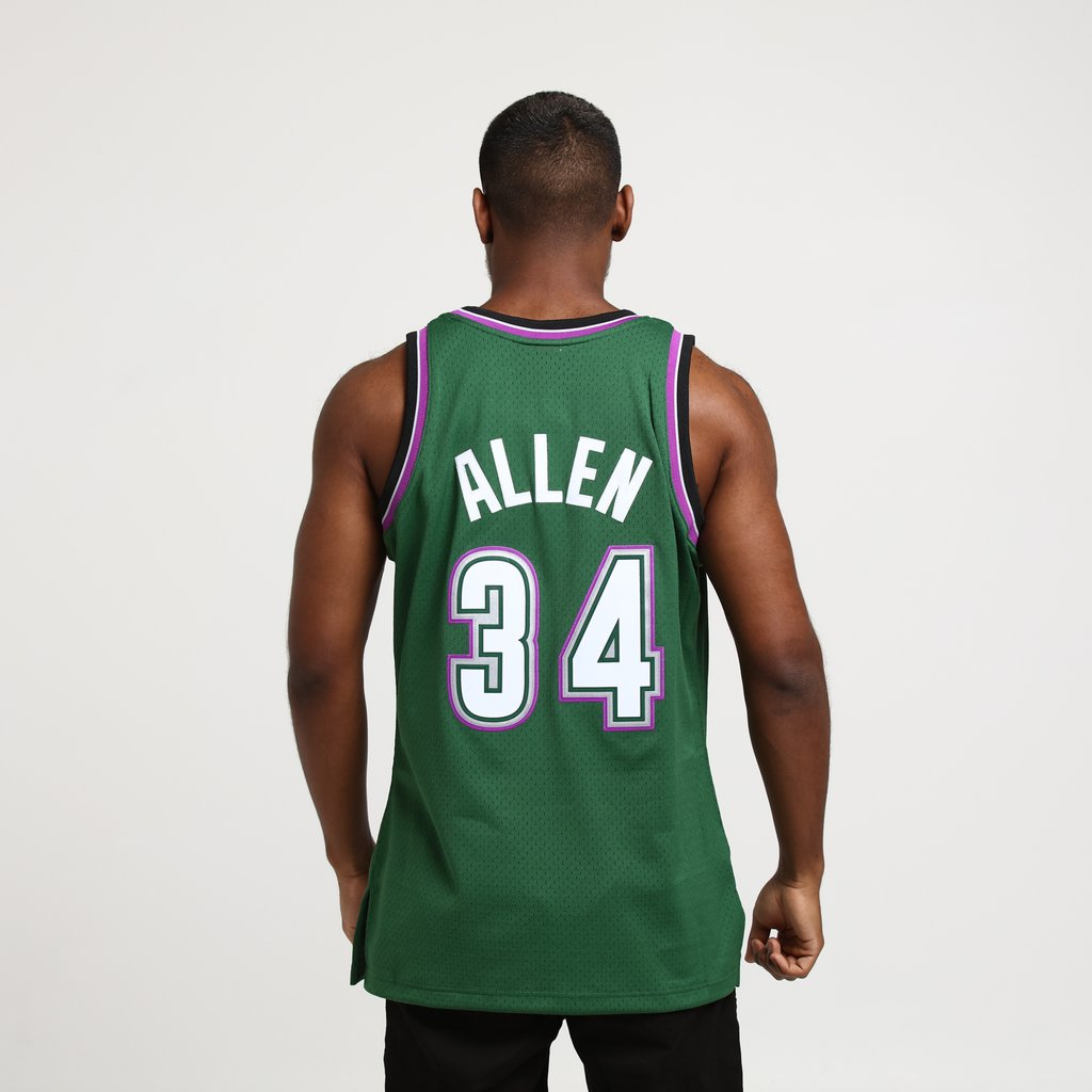 differently 7cf7e e7894 Jerseys Ray Allen Milwaukee Bucks #34 Stitched Sewn Men ...