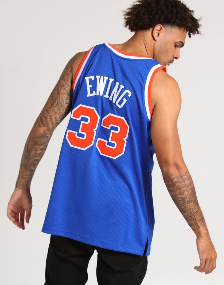 online store d1434 d4946 Mitchell & Ness New York Knicks Patrick Ewing #33 NBA Jersey Royal