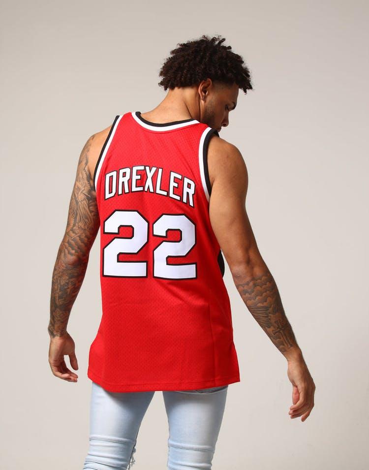 483290b8 Mitchell & Ness Portland Trail Blazers Clyde Drexler #22 NBA Jersey Red