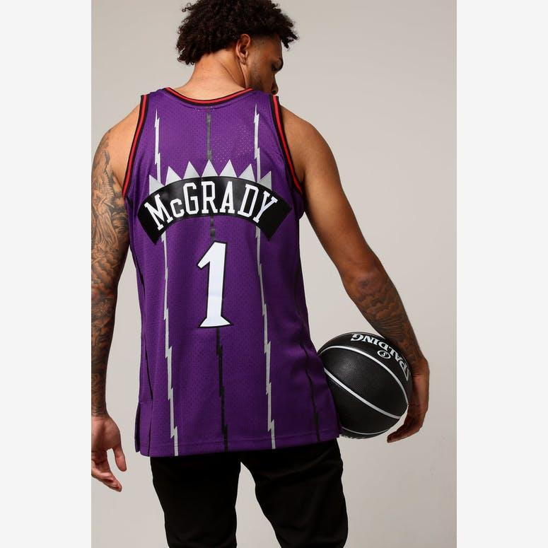 d6cc8de5b Mitchell   Ness Toronto Raptors Tracy McGrady  1 NBA Jersey Purple –  Culture Kings