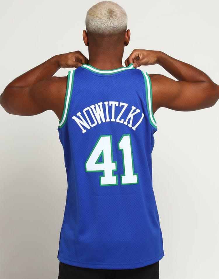 1efd5919f Mitchell   Ness Dallas Mavericks Dirk Nowitzki  41 NBA Jersey Navy –  Culture Kings