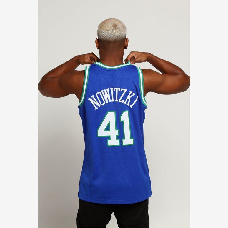 Mitchell   Ness Dallas Mavericks Dirk Nowitzki  41 NBA Jersey Navy –  Culture Kings 3457a947d