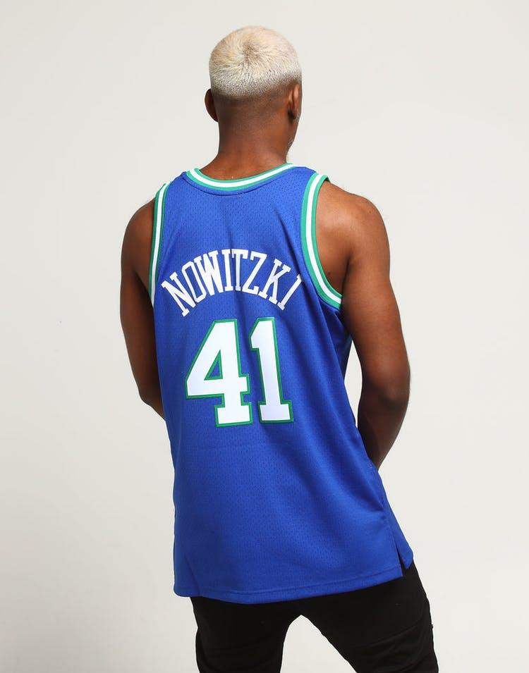 8a47d76ee Mitchell   Ness Dallas Mavericks Dirk Nowitzki  41 NBA Jersey Navy ...