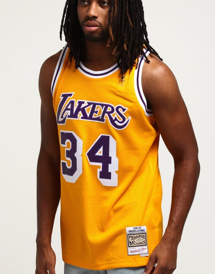 497ac346d Mitchell   Ness Los Angeles Lakers Shaquille O Neal  34 Swingman Jerse –  Culture Kings