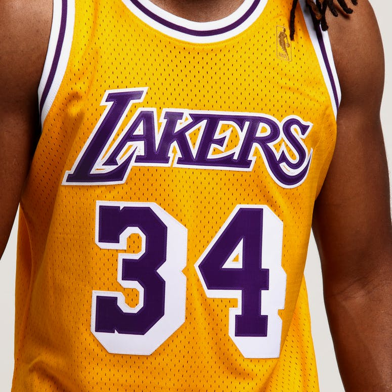 ccced11d5 Mitchell   Ness Los Angeles Lakers Shaquille O Neal  34 Swingman Jersey  Yellow
