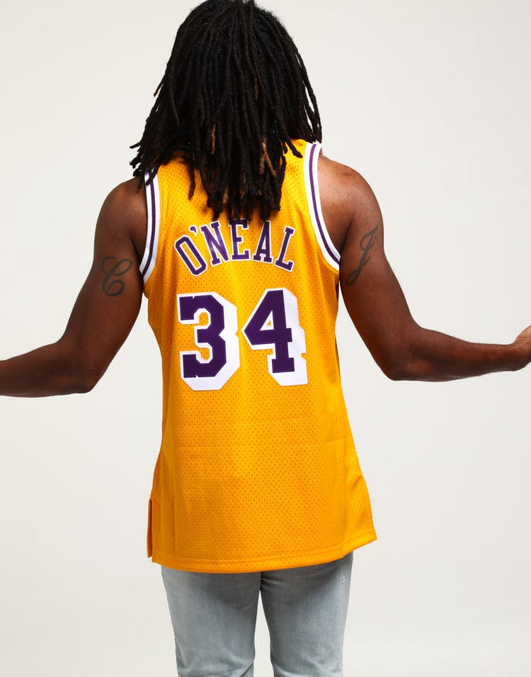 60efef2d5 Mitchell   Ness Los Angeles Lakers Shaquille O Neal  34 Swingman Jersey  Yellow