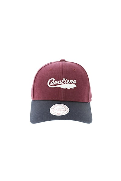 Mitchell & Ness Cleveland Cavaliers Two Tone Wordmark Strapback Navy/Maroon