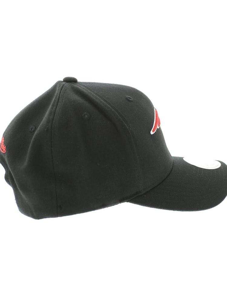 new arrival 49190 39ff3 Mitchell & Ness New England Patriots Flex 110 Embroidered Logo Snapback  Black/Red/Green