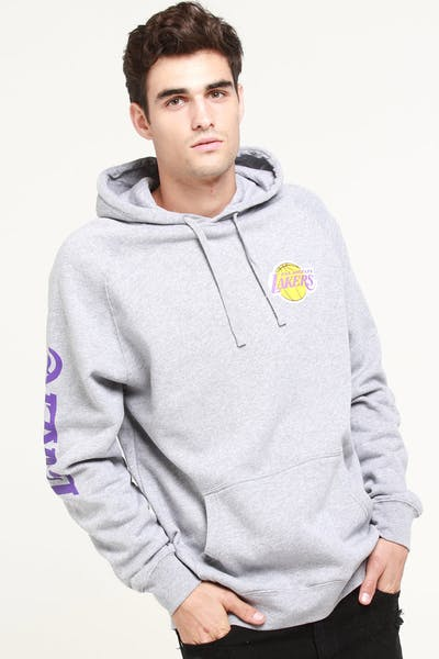 be2638d35 Mitchell   Ness Los Angeles Lakers (TC) Wordmark Hood Grey
