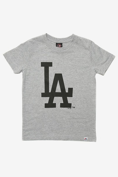 Majestic Athletic Kids Dodgers Prism Logo Tee Grey