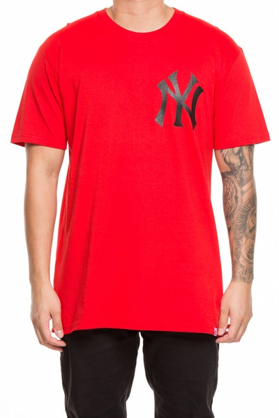 MAJESTIC ATHLETIC YANKEES JEANER TEE RED/BLACK