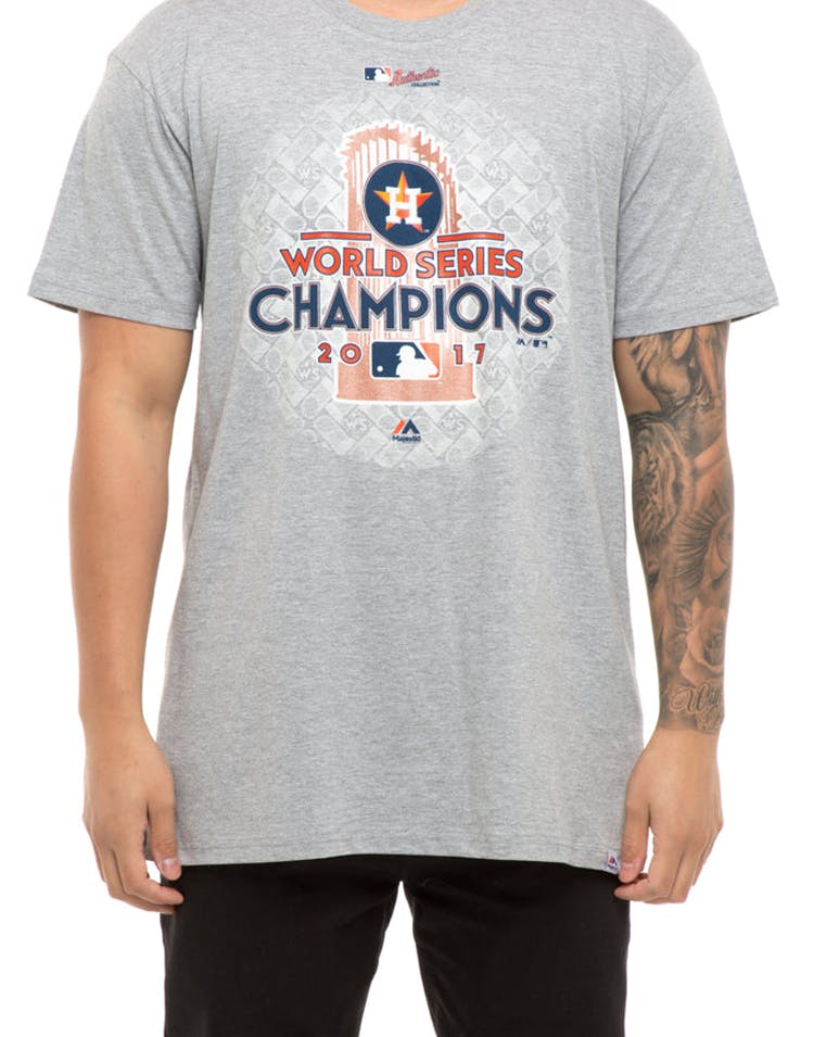 free shipping 41efd d8d57 Majestic Athletic Houston Astros World Series Winner T-Shirt Grey