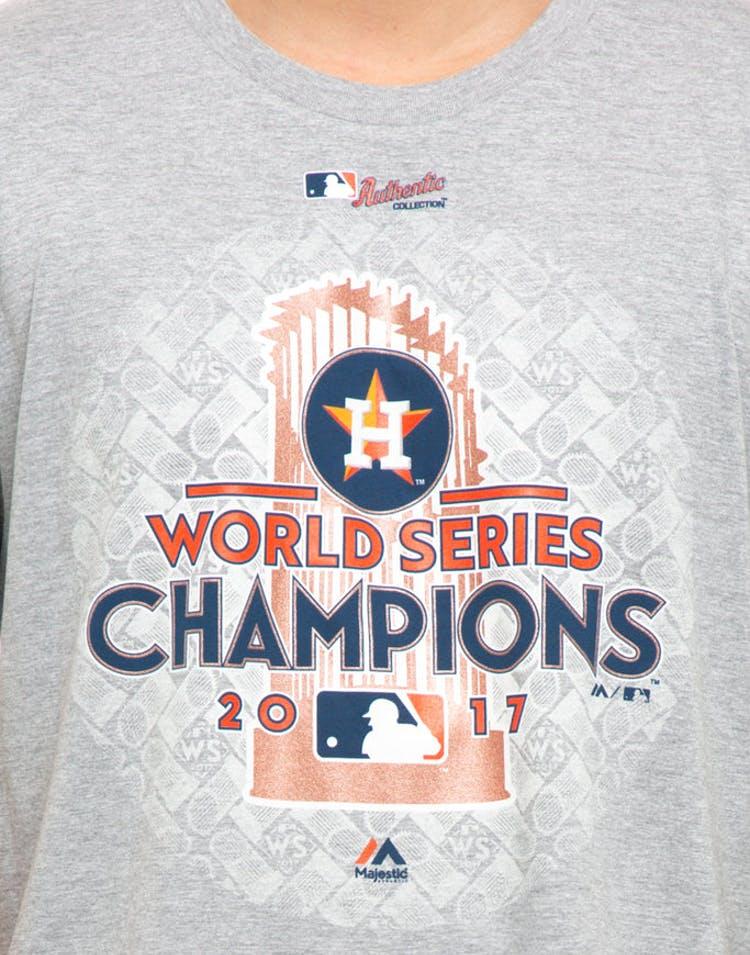 5b6ef2e21 Majestic Athletic Houston Astros World Series Winner T-Shirt Grey ...