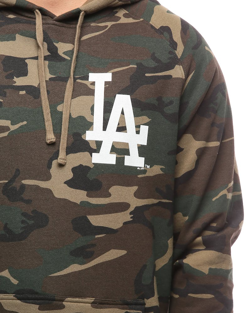 Majestic Athletic Dodgers Camo Hood Wood/White