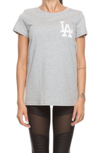 Majestic Athletic Women's Dodgers Remica Standard Tee Grey