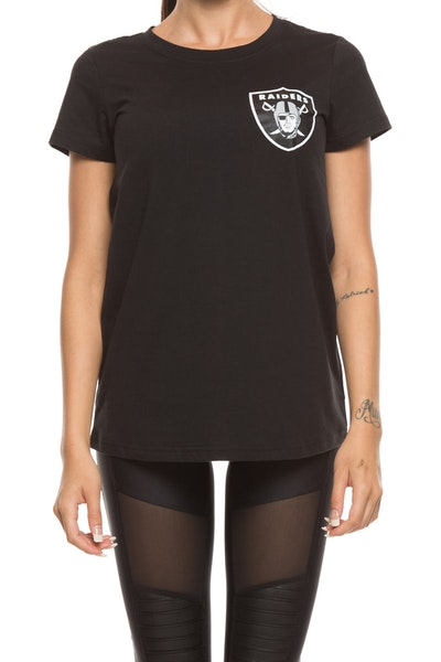 Majestic Athletic Women's Raiders Remica Standard Tee Black