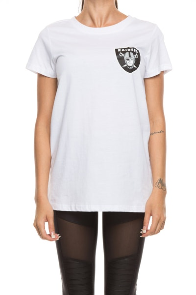 Majestic Athletic Women's Raiders Remica Standard Tee White