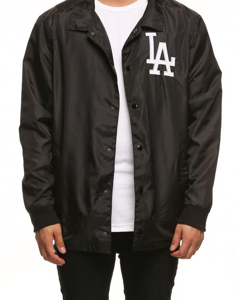 d7af4a76 Majestic Athletic Los Angeles Dodgers Russo Coach Jacket Black