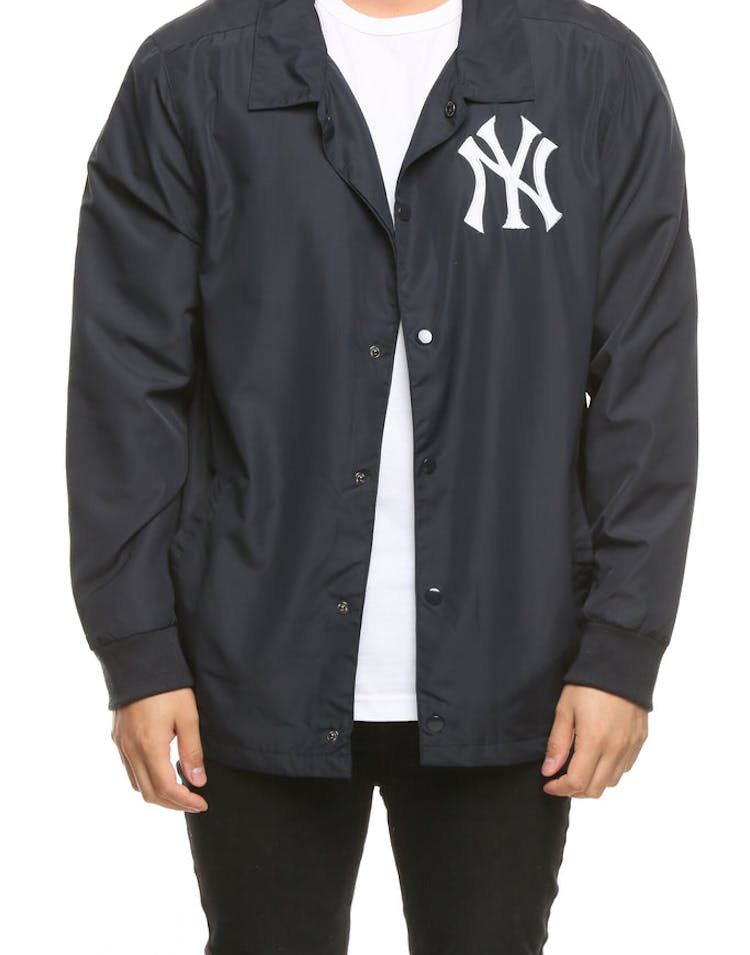 c51a33c9c Majestic Athletic New York Yankees Russo Coach Jacket Navy – Culture Kings
