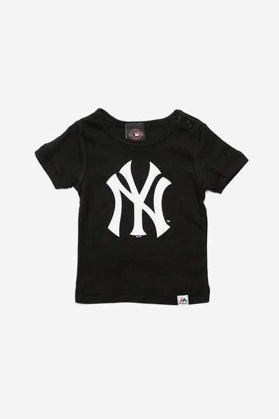 Majestic Athletic Infant Yankees Prism Logo Tee Black