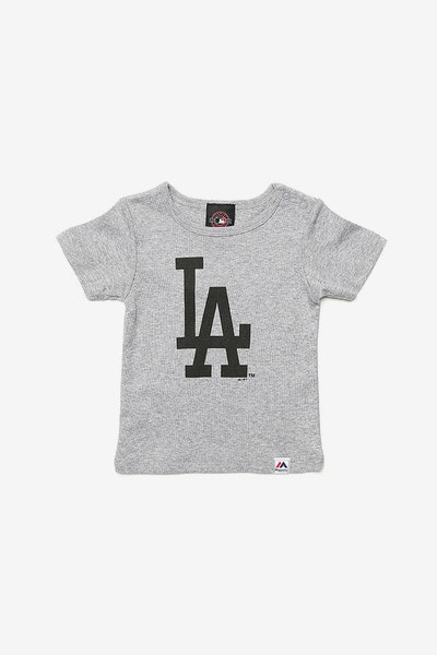 Majestic Athletic Infant Dodgers Prism Logo Tee Grey
