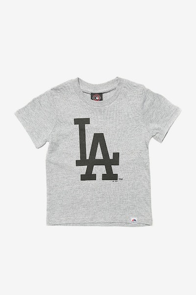 Majestic Athletic Toddler Dodgers Prism Logo Tee Grey