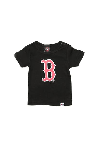 Majestic Athletic Infant Red Sox Prism Logo Tee Black