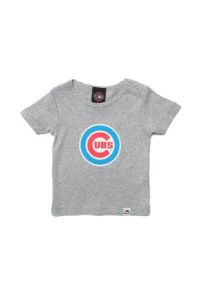 Majestic Athletic Infant Cubs Prism Logo Tee Grey